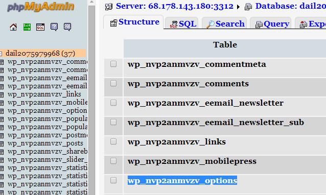 phpMyAdmin, Find Options Folder